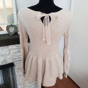 LC Lauren Conrad Sweaters - LC Lauren Conrad cream fit & flare sweater. Size M